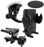 Arkon SM410 Universal Windshield with Dashboard and Vent Mount for Smartphones and PDAs - Mount