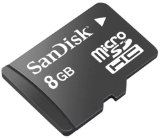 SanDisk 8GB microSD Memory Card for RIM BlackBerry 8350i Curve, Storm 9530, Pearl Flip 8220, 9000 Bold, 8330 Curve, 8130 Pearl Smartphone